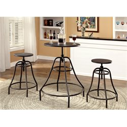 Glynda 3 Piece Adjustable Pub Set