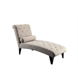 Furniture of America Josiah Tufted Chaise Lounge in Ivory