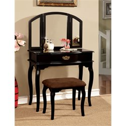 Lizzingly Vanity Set with Stool