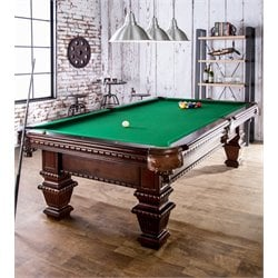 Furniture of America Merucle Pool Game Table in Cherry