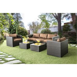 Marvin 5 Piece Patio Sofa Set