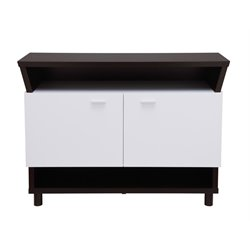 Furniture of America Rakowski Buffet in Cappuccino and White