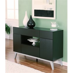 Furniture of America Reedling Modern Buffet in Black