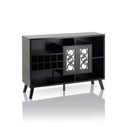 Furniture of America Rewest Wine Rack Buffet in Cappuccino