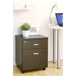 Furniture of America Tetite Mobile File Cabinet in Dark Espresso