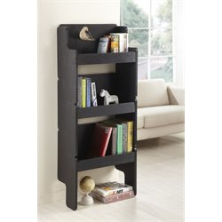 Furniture of America Jeslyn 3 Piece Stackable Bookcase in Black