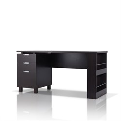 Furniture of America Nickolas Modern Office Desk in Espresso