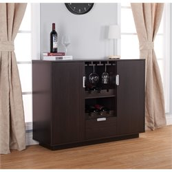 Furniture of America Porter Modern Wine Rack Buffet in Espresso