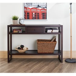 Furniture of America Milo Contemporary Console Table in Wenge
