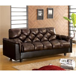 Furniture of America Darwin Futon in Brown