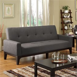 Furniture of America Mackay Futon in Charcoal