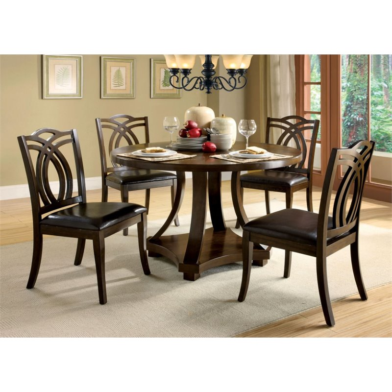 Furniture Of America Lafayette 5 Piece Dining Set Idf 3160rt 5pc Set