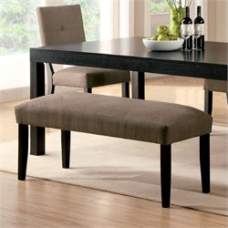 Furniture of America Bruce Fabric Bench in Espresso