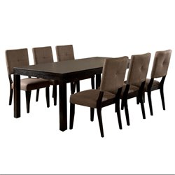 Furniture of America Bruce 7 Piece Dining Set in Espresso