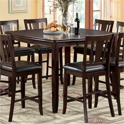 Furniture of America Rosewood Counter Height Dining Table in Espresso