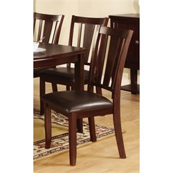 Furniture of America Rosewood Side Chair in Espresso