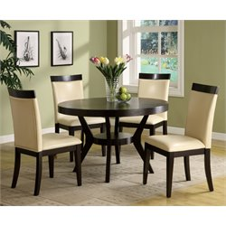 Furniture of America Urbani 5 Piece Dining Set in Espresso