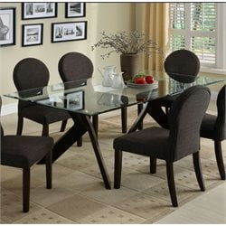 Furniture of America Natalie Dining Table in Espresso