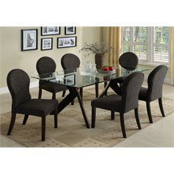 Furniture of America Natalie 7 Piece Dining Set in Espresso