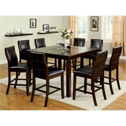 Furniture of America Stollings 9 Piece Counter Height Dining Set