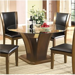 Furniture of America Waverly Round Dining Table in Dark Cherry