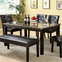 Furniture of America Roque Dining Table in Black