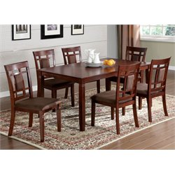 Furniture of America Benny 7 Piece Dining Set in Dark Cherry