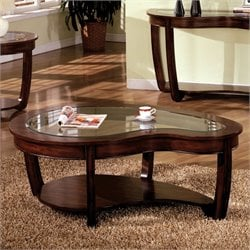 Furniture of America Tunton Coffee Table in Dark Cherry