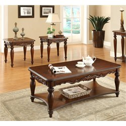 Garner Coffee Table Set in Cherry