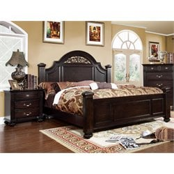 Damos 2 Piece Bedroom Set in Dark Walnut