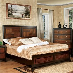 Delia Bed in Acacia/Walnut