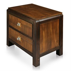 Furniture of America Delia Nightstand in Aciacia