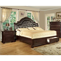 Moore 2 Piece Bedroom Set in Brown cherry