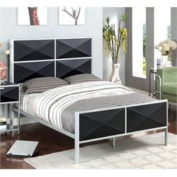 Furniture of America Colby Full Metal Bed in Black and Silver
