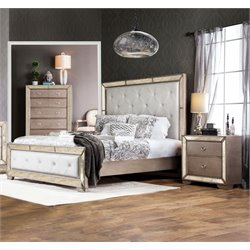 Eckel 2 Piece Bedroom Set in Silver