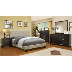 Warscher 4 Piece Bedroom Set in Ivory