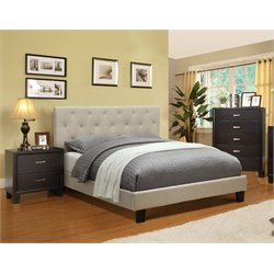 Warscher 3 Piece Bedroom Set in Ivory