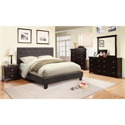 Warscher 4 Piece Bedroom Set in Grey