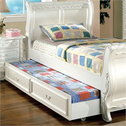 Furniture of America Rollison Hand-Brushed Trundle in Pearl White
