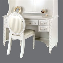 Furniture of America Rollison Desk in Pearl White