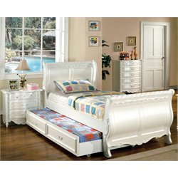 Rollison 3 Piece Bedroom Set in Pearl White