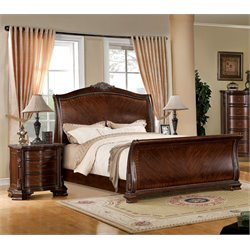 Cliffton 2 Piece Bedroom Set in Brown Cherry