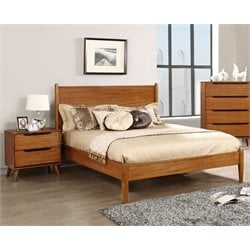 Anisa 2 Piece Bedroom Set in Wire-brushed gray