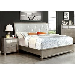 Lilliane 2 Piece Bedroom Set in Silver