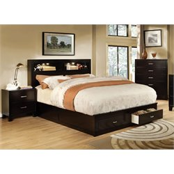 Louis 3 Piece Bedroom Set in Espresso