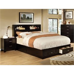 Louis 2 Piece Bedroom Set in Espresso