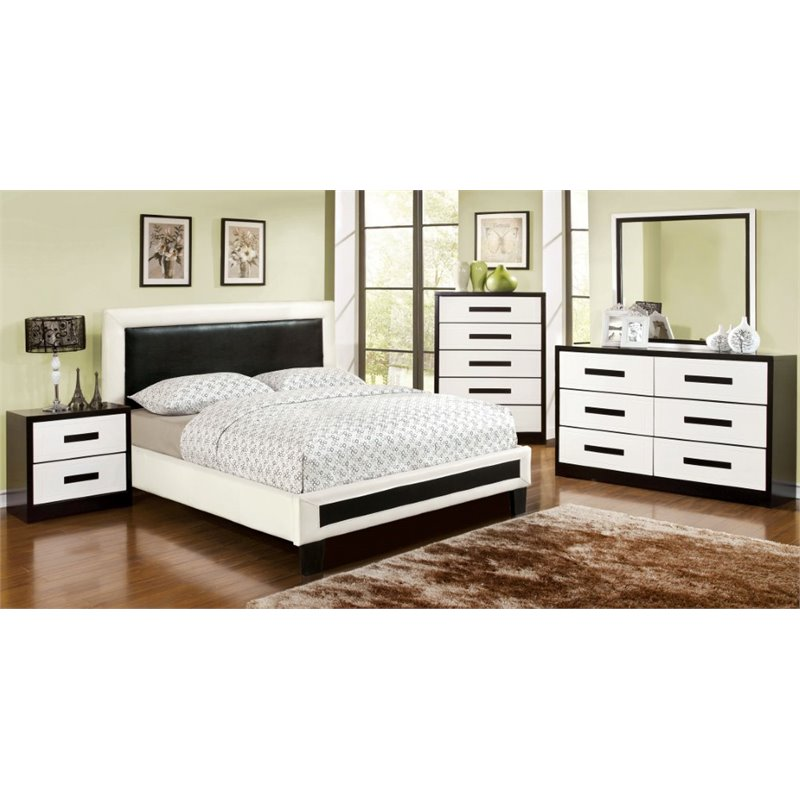 Furniture of America Retticker 4 Piece Queen  Panel Bedroom Set