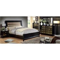 Bettyann 4 Piece Bedroom Set in Gold and Black