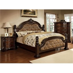 Cathey 3 Piece Bedroom Set in Dark walnut DA