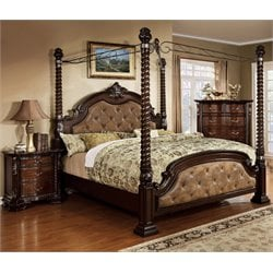 Cathey 2 Piece Bedroom Set in Dark walnut -C-